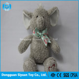 Promotional Gift Stuffed Soft Plush Elephant Toy for Girl with Bowknot