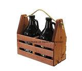 Wooden Craft Beer Growler Bottle Carrier