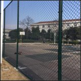 PVC Coated or Galvanized Chain Link Fence for Security, Highway, Commerical, Residential, Schools, Construction