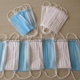 Medical/Hospital/Protective/Safety/Nonwoven 3ply Disposable Surgical Face Mask with Elastic Ear-Loops & Tie-on