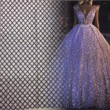 Factory Direct Sale Sequins Tulle Lace Embroidery Fabric for Evening Dress