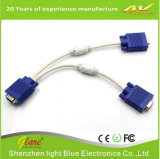 Factory Supply 1FT VGA Monitor Y Splitter Cable