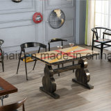 Iron Metal Shop Table Design with Antique Reproduction Furniture
