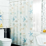 Popular Anti-Crease Waterproof PEVA Bathroom Shower Curtain (04S0029)