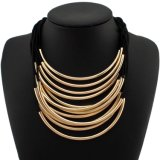 New Popular Multi - Layer Rope Metal Tube Short Section of The Clavicle Necklace Wild Female Fashion Accessories