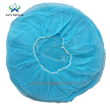 Medical Bouffant Head Cap Nurse Hat Non Woven Elastic Disposable Cheap Surgical Caps