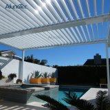 Motorized Waterproof Sunshading Louvered Pergola with Opening Roof