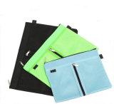 Eco-Friendly A4 A5 Mesh Folder Zipper Document File Bag