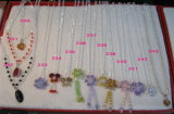Nice Crystal Bead Necklace Jewellery Accessories (JDNE-218)