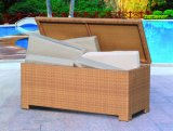 Aluminum Frame Adjustable Outdoor Rattan Cushion Storage Box (TG-5033)