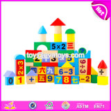 Wholesale Cheap 60 Pieces Educational Math Toys Wooden Baby Building Blocks W13b022