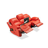 Modern Luxury Leather Automatic Living Room Hotel Recliner Sofa with TV Movie Hb03-19
