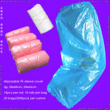Waterproof Protective Medical/Surgical/CPE/SMS/PP/Nonwoven/Plastic Disposable PE Oversleeves for Household Cleaning/Clean-Room/Food Processing/Industry/Service
