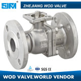 2PC SS304 Flanged Ball Valve Stainless Steel