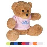 """7"""" Polyester Adorable Brown Plush Bear W/T-Shirt (PM130)"""