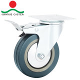 Gray Industrial Light Duty Swivel Rubber Caster