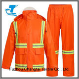 Men's Reflective Orange Traffic Rain Pants and Jacket