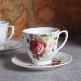 British Porcelain Coffee Cup Bone China Coffee Cup and Saucer Afternoon Bone China Tea Cup Set