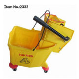 30L Single Mop Wringer Trolley with Solid Wheels