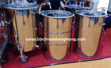 Mirror Polished Stainless Steel Drum with Lid and Triclamp