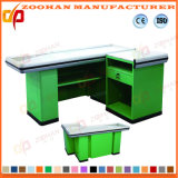Metal Supermarket Shop Checkout Stand Counter Cash Desk Table (Zhc53)