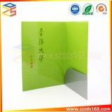 Customized File Paper Folder with Pocket and Business Card Area