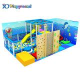 Small Amusement Park Mcdonalds Playground Equipment with Climbing Wall