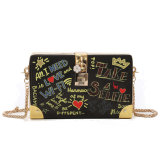 2020 New Graffiti Printed Clutch Bag Female New Graffiti Print Ladies Clutch Bag Letter Coin Purse