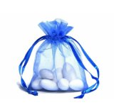 Promotional Cheap Sheer Flat Organza Drawstring Gift Bags
