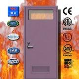 2019 Cheap Fire Glass Fireproof Steel Door Colorful Door for School or Hospital