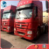 Original-Red 30ton 6*4-LHD-Drive Used HOWO Sinotruk 360HP Tractor Trailer Truck