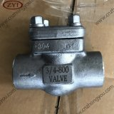 Class 800lb 1500lb NPT Threaded Forged Steel Swing Check Valve