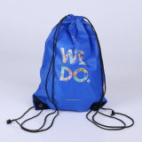 Wholesale Promotional Custom Logo Print 210d Polyester Drawstring Bag