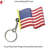 Wholesale Soft PVC Key Chain Flag Design for Promotion (YH-KC120)