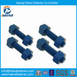 Xylan Blue 1424 Stud Bolt Double End Threaded Rod for Project