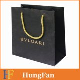 Luxury Custom Logo Printed Black Paper Shopping Bag/Paper Bag