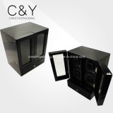 Deluxe Black High Gloss Lacquer Drawer Automatic Quad Watch Winder