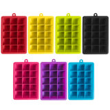 High-Quality Producer 15 Hole Silicone Ice Tray Mold DIY Square Ice Cube Box with Lid Silicone Ice Mold