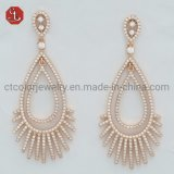 Factory Price Tassel Silver or Brass Pave Cubic Zircon