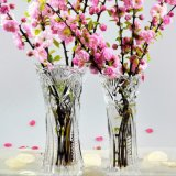 Wholesale Cheap Tall Clear Crystal Glass Flower Vase for Home Decoration