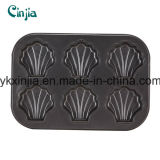 6cup Carbon Steel Non-Stick Shell Model Muffin Pan