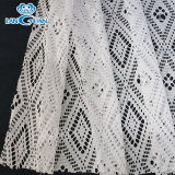 Fashionable Polyester White Lace Fabric Textile Apparel Accessories