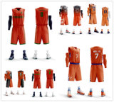 latest Design OEM Team Basketball Jersey Reversible Double Mesh 100%Polyester Cheap
