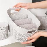 Portable Storage Basket PP Bathroom Snack Cosmetics Wash Storage Box