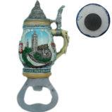 OEM Polyresin Wine Cup Fridge Magnet with Bottle Opener
