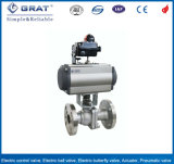 PTFE Seat 2 Inch Stainless Steel Full Port Pneumatic Actuated Pn16 Ball Valve