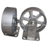 """6"""" Cast Iron/Semi--Steel Wheel Shipping Container Caster"""