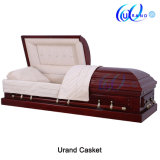 Solid Cherry Cream Velvet Adult Swing Bar Coffin and Casket