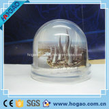 Acrylic Photo Snow Globe with Building Photo