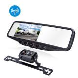 "Wireless Car Auto Rear View Camera with 4.3"" Mirror Monitor"